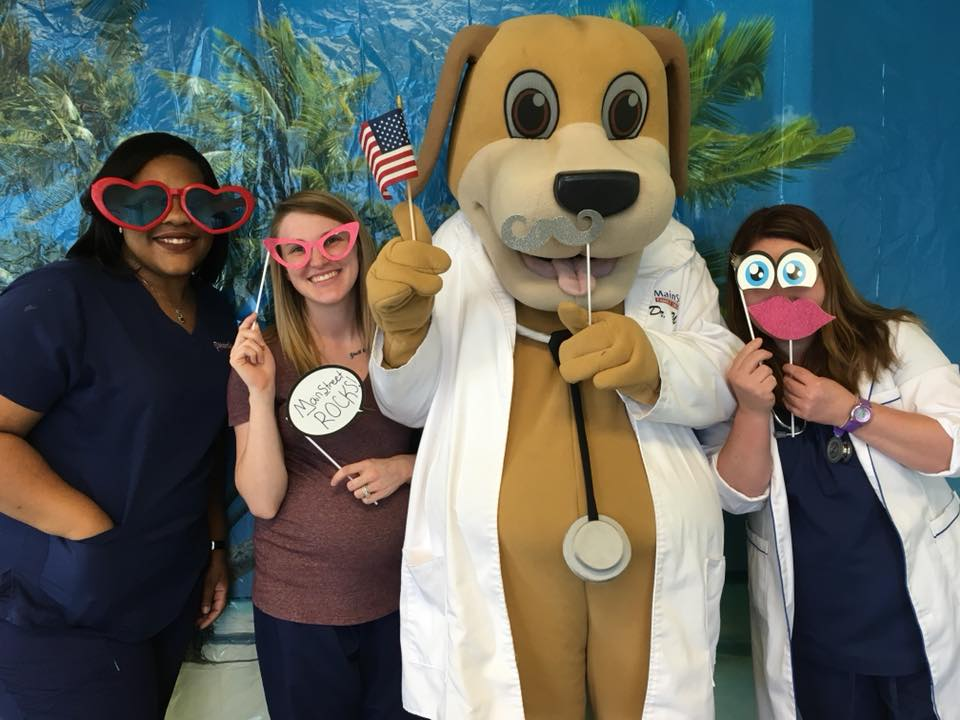 July MainStreet Staff photo booth pictures